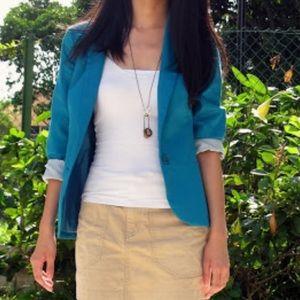 style & co electric blue blazer